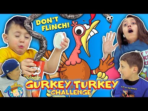 GURKEY TURKEY CHALLENGE Try Not To Flinch FUNnel Family Compilation