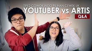 Pacaran Tinggal Serumah & Tipe2 Cowok INDO Yang Cewek UK Suka - YouTuber Vs Artis | Q&A Feat. Chloe