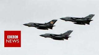Queasy journalist takes last Tornado flight - BBC News