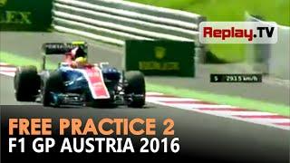 Aksi Rio Haryanto di sesi latihan kedua F1 GP Austria 2016