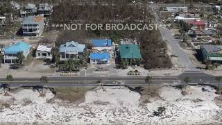 10 12 18 Mexico Beach, FL Helicopter Damage Entire Coast Filmed In One Shot East To West RAW