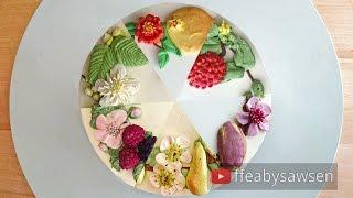 New series: 6 unique buttercream flower & fruit wreath cake tutorials