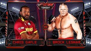 Chris Gayle VS Brock Lesnar - 1-vs-1 Backstage Brawl