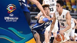 New Zealand v South Korea - Live - FIBA U19 Basketball World Cup 2017