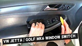 VW JETTA MK6 MASTER WINDOW SWITCH REPLACEMENT DRIVER SIDE VW GOLF MK6