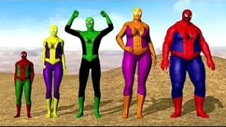 Spiderman Finger Family Song ☻ Candy Finger Family Collection ☻ Daddy Finger Song For Kids