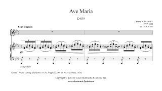 Schubert : Ave Maria (Latin) - Soprano or Tenor