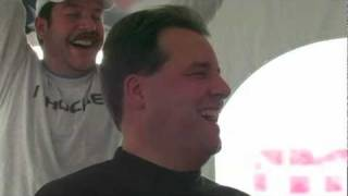 Jim Jackson Mustache shaving at Preston and Steve's Campout for Hunger 2009