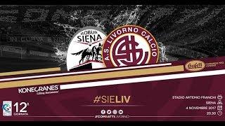 Robur Siena - Livorno // 1-2 // Serie C 2017-18