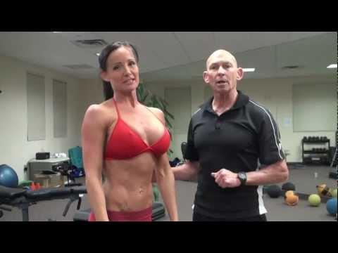 Bikini model chest workout