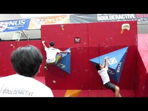 2012 Boulderactive - Men's Novice Qualification Problem 2 - Fong Yat Nam