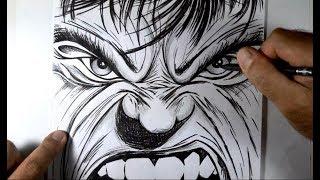 Desenhando HULK Estilo HQ   #ArteECiaBrasil