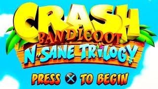 🍑 CRASH BANDICOOT: N-SANE TRILOGY FULL GAME PLAYTHROUGH 🍑