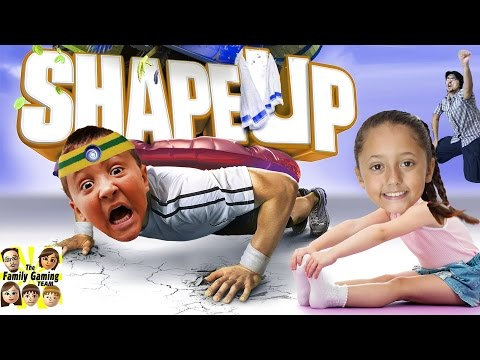 The FGTEEV WORKOUT! (Shape Up Challenge w/ Skylander Boy and Girl) Xbox One Face Cam Gameplay
