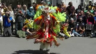 Men's Fancy Dance Exhibition - Redhawk Native American  Mother Earth Pow Wow 2018