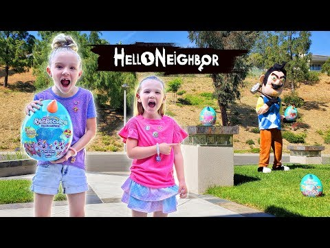 Trinity and Madison Create NEW Rainbocorns Series 2 With Tricking Hello Neighbor in Real Life