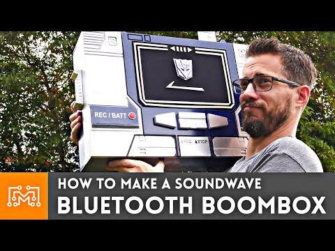 How to make a Soundwave Bluetooth BoomBox