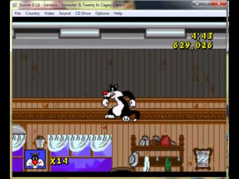 Sylvester And Tweety In Cagey Capers Mega Drive Genesis Longplay
