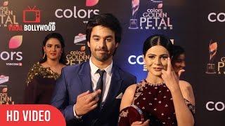Thapki - Jigyasa Singh And Manish Goplani At Colors Golden Petal Awards 2017 | Viralbollywood