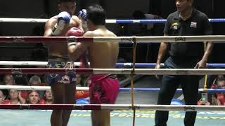 Bao (Phatakngern Sinbimuaythai) fights at Patong Stadium and wins by K.O. in Round 3