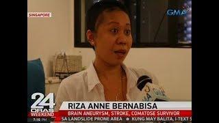 24 Oras: Pinay domestic helper sa Singapore, himalang nakaligtas sa brain aneurysm