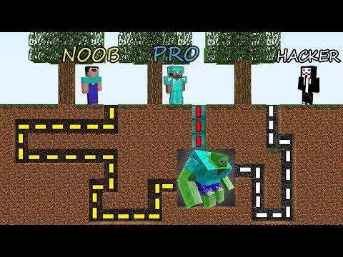 Minecraft Battle NOOB vs PRO vs HACKER SURVIVAL IN ZOMBIE MAZE in Minecraft MAP