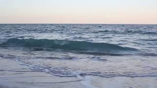 Relaxing 45 Min Video of Ocean Waves at Sunset, High Tide - Calm Sleep Meditation