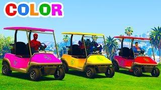 Learn Colors Fun Cars w Superheroes Cartoon Animation for Babies & Nursery Rhymes Songs