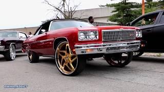 WhipAddict: Kandy Orange 75' Chevy Caprice Convertible on Gold Forgiato 28s