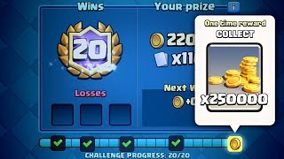 Clash Royale - 20 WIN CHALLENGE CHEST! 250,000 Gold