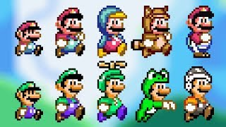 All Power-Ups! SMW Mario & Luigi (Custom Sprites) - Super Mario Bros. X (SMBX 1.4.4)