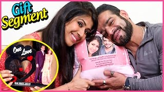 Karan Patel And Ankita Bhargava Gift Segment | TellyMasala