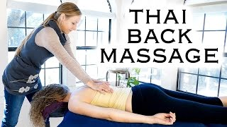 HD Back Massage with Relaxing Music & Soft Spoken Voice, Thai Massage for Back Pain