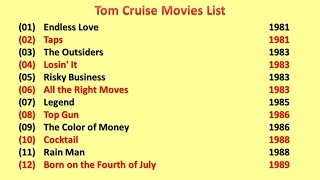 Tom Cruise  Movies List