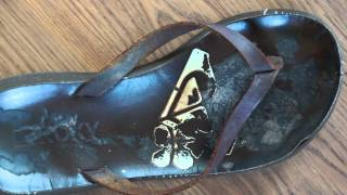 Beautifully Well-Worn Shoes: My Favorite Roxy Slippers!