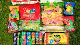 Permen Yupi, Push Pop, Ring Pop, Sour Patch, Warheads Super Sour, dan Marshmallow Jelly