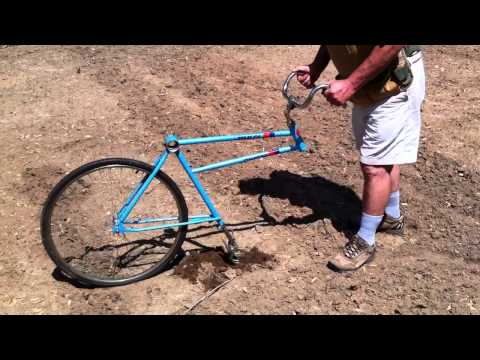 Bicycle Garden Plow home made