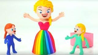 FROZEN ELSA NEW DRESS ❤ Hulk & Superhero Babies Play Doh Cartoons & Stop Motion Movies For Kids