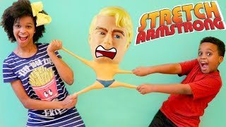 STRETCH ARMSTRONG vs Bad Baby Shasha and Shiloh! - Onyx Kids