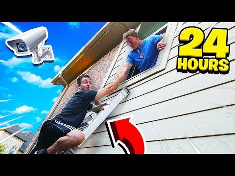 MY FRIENDS SNEAKED INTO MY HOUSE FOR 24 HOURS
