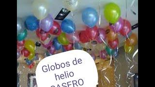 Globo de helio casero 100% efectivo (fácil 2016)