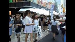 Japan girl in Harajyuku festival sale Cawaiiラフォーレ原宿のバーゲンが祭り状態w