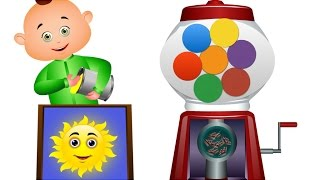 Five Little Babies Playing With Ball Machine | Learning Colors For Kids | JamJammies Nursery Rhymes