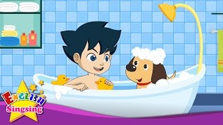 After a Bath - Body song - Nursery Popular Rhyme with lyrics - English Song For Kids - Music