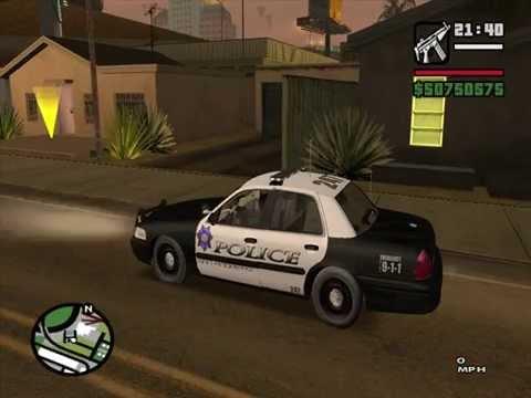 Gta Sa Police Carlighting And Siren Mod Test Playithub Largest Videos Hub