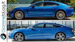 2018 Audi A7 Sportback VS Porsche Panamera 4S - Car COMPARISON Interior + Exterior Design