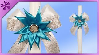 DIY How to make decoration for First Communion candle (ENG Subtitles) - Speed up #481