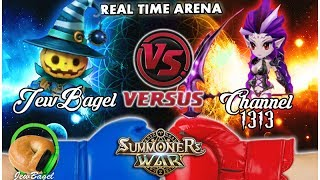 SUMMONERS WAR : JewBagel -VS- Channel 1313 (Real-Time Arena)