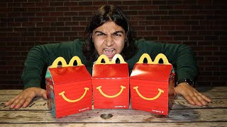 THE HAPPY MEAL CHALLENGE! (I BEAT MATT STONIES TIME) FASTEST HAPPY MEAL EATEN WORLD RECORD
