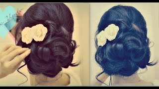 ★ Easy Wedding Updo with Curls   Prom Hairstyles Hair Tutorial
